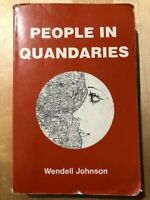 People in Quandaries by Wendell Johnson (1980, Paperback) Book