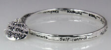 4031132 Christian Twisted Solid Bangle Stackable Fruits of the Spirit Love Jo.