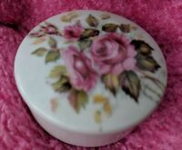 LIMOGES FRANCE HAND PAINTED ROSES SMALL TRINKET KEEPSAKE  BOX