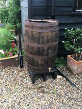Oak barrel water butt tank 200 Litres, Brass tap, Stand + Diverter Kit -garden