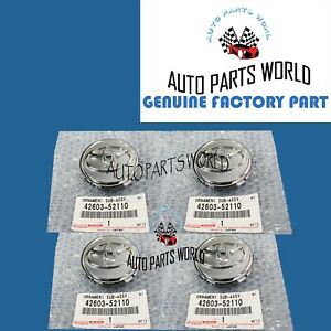 GENUINE OEM TOYOTA COROLLA PRIUS YARIS WHEEL CENTER CAP SET OF 4X 42603-52110