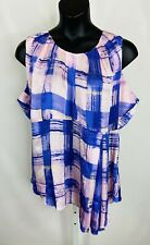 Melissa McCarthy For Seven7 Womens Sleeveless Top Size 3X Pink Purple