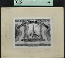 El Salvador Face 100 Colones (1950) Pick Unlisted Photographic Proof UNC