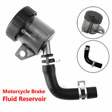 Black Motorcycle Rear Brake Clutch Master Cylinder Fluid Reservoir Oil Tank Cap