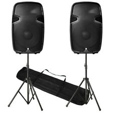 SPJ -15BLU 4000W 4K IPP ACTIVE DJ PA BLUETOOTH USB SD WIRELESS SPEAKER PACK