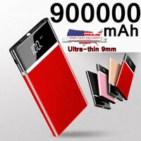 900000mAh Ultra-thin Power Bank External Battery Portable Charger Fast Charging