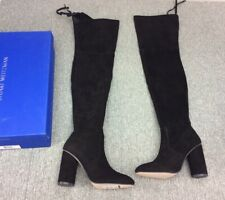 Stuart Weitzman Helena 95 Over The Knee Boots Tall Black Suede 9 39 Thigh High