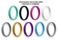 Silicone Wedding Ring Men Women Engagement Flexible Sport Rubber Band Size 4-9