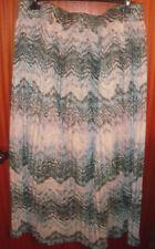 Papaya Polyester Plus Size Maxi Skirts for Women