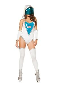 sexy ROMA space COMMANDER astronaut SPACE spaceship CAPTAIN romper PARTY costume