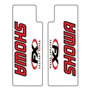 Factory Effex Clear Upper Fork Decals Showa / Red