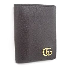 GUCCI GG Marmont Card Case Dark Brown 428737