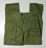 VTG Mens 28 x 28 KL Seyntex Netherlands Army Button Fly Cargo Pants Green 70s