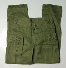 Vtg Mens 28 x 28 Kl Seyntex Netherlands Army Button Fly Cargo Pants Green 70s