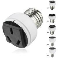 E27 Lamp Light Socket Holder Screw Bulb Convert To Female v EU Outlet US Po A2J6