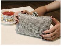 Designer Wedding Bridal Crystal Silver Gold Evening Clutch Bag Handbag Purse New