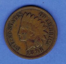 1898 INDIAN HEAD PENNY CENT US COIN FULL LIBERTY....... SA 277