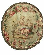 Antique French Renaissance Full Floral Luxury Aubusson Sofa Cover
