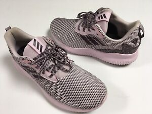 Adidas Alphabounce+ Plus Women's Trainer Running Shoes Grey/Pink 9M