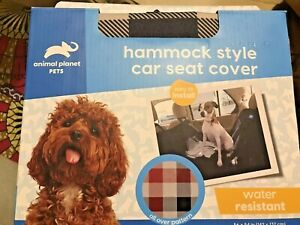 Deluxe Padded Plaid Bench Hammock Car SUV Back Seat Cover Protector for Dogs.