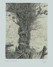 Philippe Mohlitz engraving, L'Anachorete, pencil signed and editioned