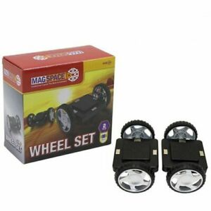New Brand Magspace one set two Wheels-Can be used with Magformers sets