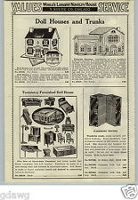 1933 PAPER AD Durrel Trixytoy Mansion Doll House Tootsietoy Furniture Buggy