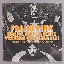 """FRIJID PINK 7""""PS Spain 1971 Music for the people PROMO"""