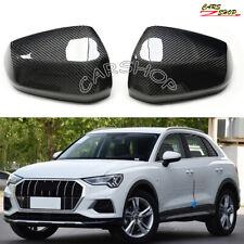 For Audi Q2 Q3 Quattro 19-20 Carbon Fiber Side Mirror Cover Cap Replace W/O Lane