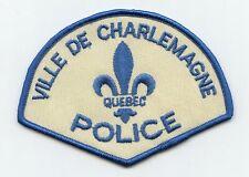 Ville de Charlemagne Police, Quebec, Canada HTF Vintage Uniform/Shoulder Patch