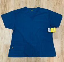 wonderwink origins scrub Top Only  XL  new with tags Caribbean Blue