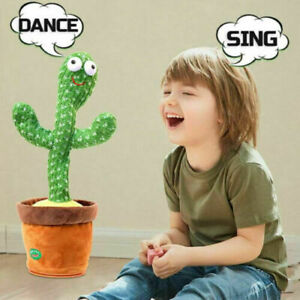 Electric Cactus Plush Toys Singing and Dancing Cactus Holiday Decoration for Kid