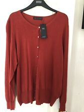 Marks And Spencers Burnt Orange Cardigan New Size 24