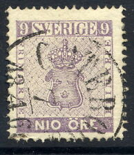 SWEDEN 1863 Nio öre pale purple, fine used