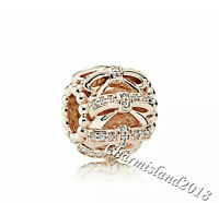 Authentic Pandora Charm 781779 Rose Gold  Shimmering Sentiments Bead #Z