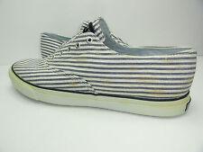 Women's Sperry Top-Sider Boat Shoe Cameron LL Navy Seersucker canvas Size 12