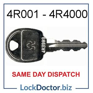 Replacement Locker Keys 4R001-4R4000 Cut To Code (FREE 48HR TRACKED DELIVERY)