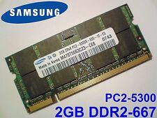 2GB DDR2-667 PC2-5300 667MHz SAMSUNG M470T5663CZ3-CE6 MEMORIA PORTATILE RAM