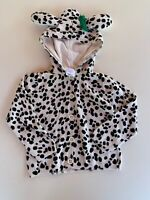 NWT gymboree girls fancy dalmatian sweater 3t Hooded Dog Ears White Black