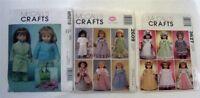 "McCalls Crafts Lot 3 Pattern Sets Gotz AG 18"" Doll Clothes Uncut 5019,3627,2609"