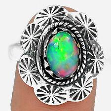 Ethiopian Opal 925 Silver Ring Jewellery Size Uk S Us 9