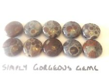 12 Stunning Double Drilled Oval Shaped Calcite Gemstone Beads 14 mm 10