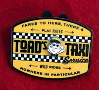disney trading pin toad's taxi Mr Toad's Wild Ride attraction cab wind willows