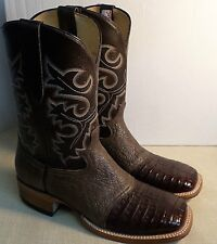 COWTOWN Q1474 MEN'S HANDCRAFTED CAIMEN BELLY TOE BOOTS NEW IN BOX MADE USA