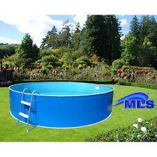 Schwimmbecken Set 2,40 m x 0,90 m rund inkl. Filteranlage u. Leiter Rundpool