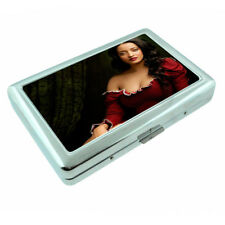 Bali Pin Up Girls D13 Silver Metal Cigarette Case RFID Protection Wallet