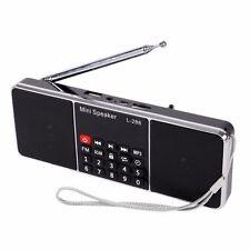 USB Digital AM FM Radio Mini Speaker MP3 Music Player Dual 2CH BOR