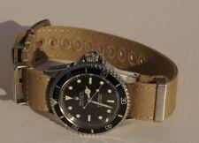Canvas NATO Strap Armband 20 mm Farbe sand mit verbesserter Schliesse 7920b