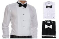 Luxurious Tuxedo with Laydown Or Wing Tip Collar Bow-tie Menswear Shirts