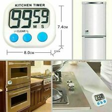 Magnetic Large LCD Screen Digital Kitchen Timer Alarm Count Up Down